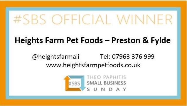 I'm very proud to be hosting #sbswinnershour tonight and thought I should introduce myself. I'm Alison and I own a franchise in Heights Farm Pet Foods delivering our brand of hypoallergenic pet food to customers across Preston and Fylde areas! I won #SBS in March 2019 https://t.co/gw4JQ0b25O