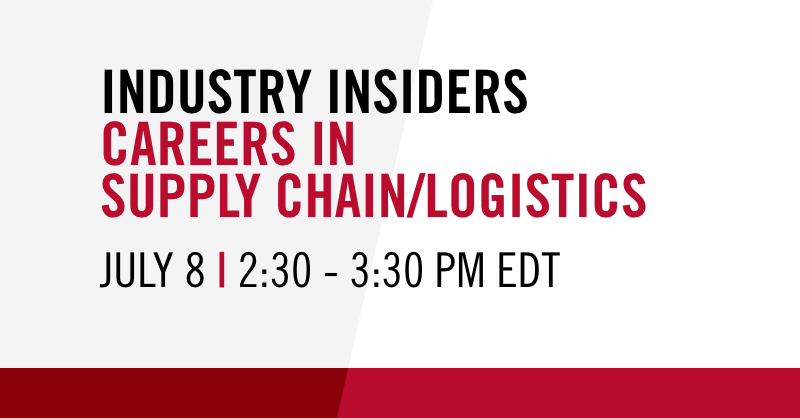 During this virtual panel discussion, #UGA alumni professionals in the supply chain/logistics field will share information and offer a networking opportunity to current students and recent alumni. https://t.co/Y6k0JSdBuP  Thread of panelists ⬇️ https://t.co/rl7q3LsAQI