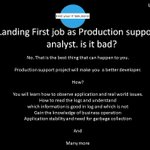 Image for the Tweet beginning: Production Support Job is not
