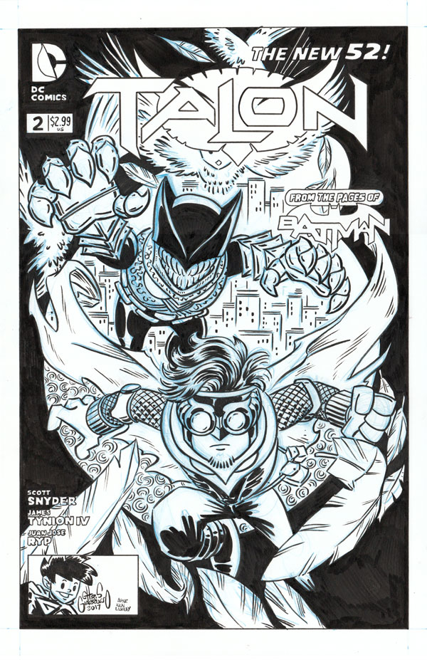 homage/tribute/recreation of Ken Lashley's cover to TALON #2