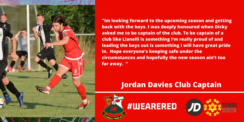 The 1st announcement of the week. We begin with midfield maestro Jordan Davies who committs for the forthcoming season. More to follow each day this week.  #WeAreRed https://t.co/h5DJKW6fe4