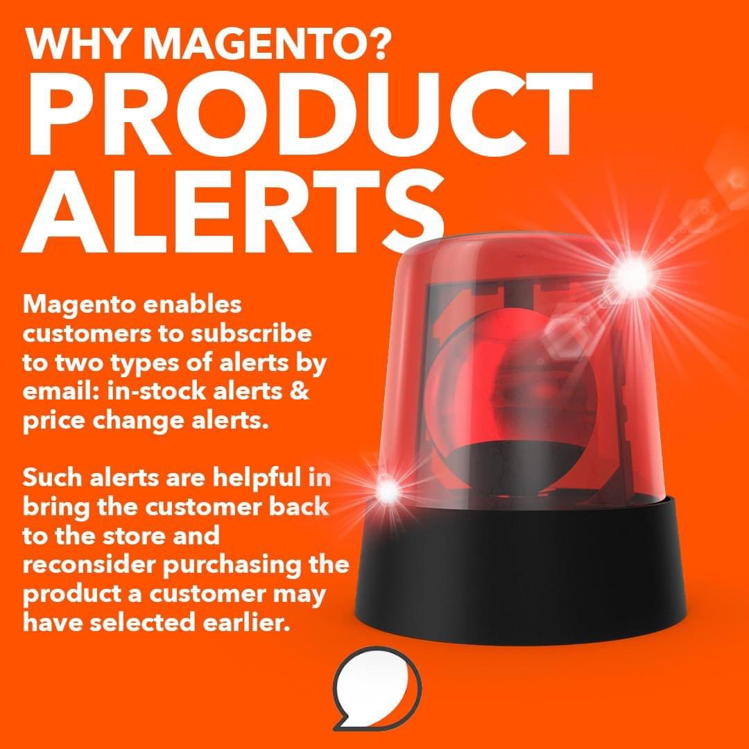 If the price changes, there's a promo active or an item's been restocked - your customer will receive an e-mail about it. #magento #ecommercebusiness pic.twitter.com/k0pZL3Z2Ig