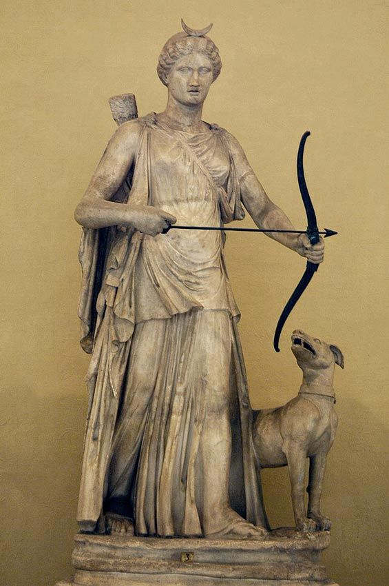Dogs are sacred to Artemis, the goddess of the hunt, chastity, and the Moon. A pack of male and female dogs were given to her by Pan, the god of the wilderness, and were ever after her prized and steadfast companions, hard working hunters and loyal guardians. #MythologyMonday<br>http://pic.twitter.com/sKpK0e5CVt