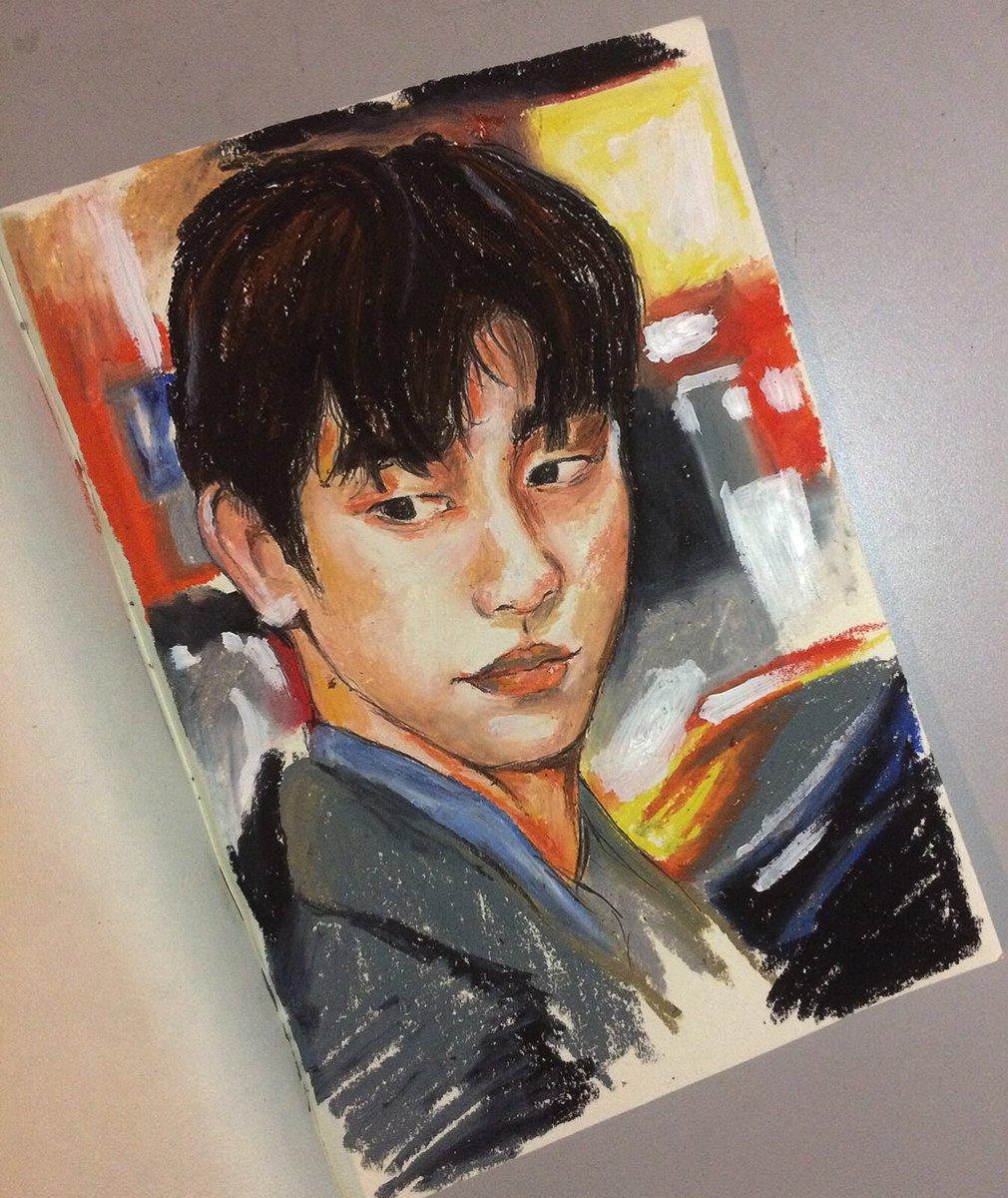 I MISS YOU......I'M SORRY.  #jinyoung #got7 #igot7 #got7fanart #hear_here #art #artwork #painting #drawingpic.twitter.com/AkpXLbehp5