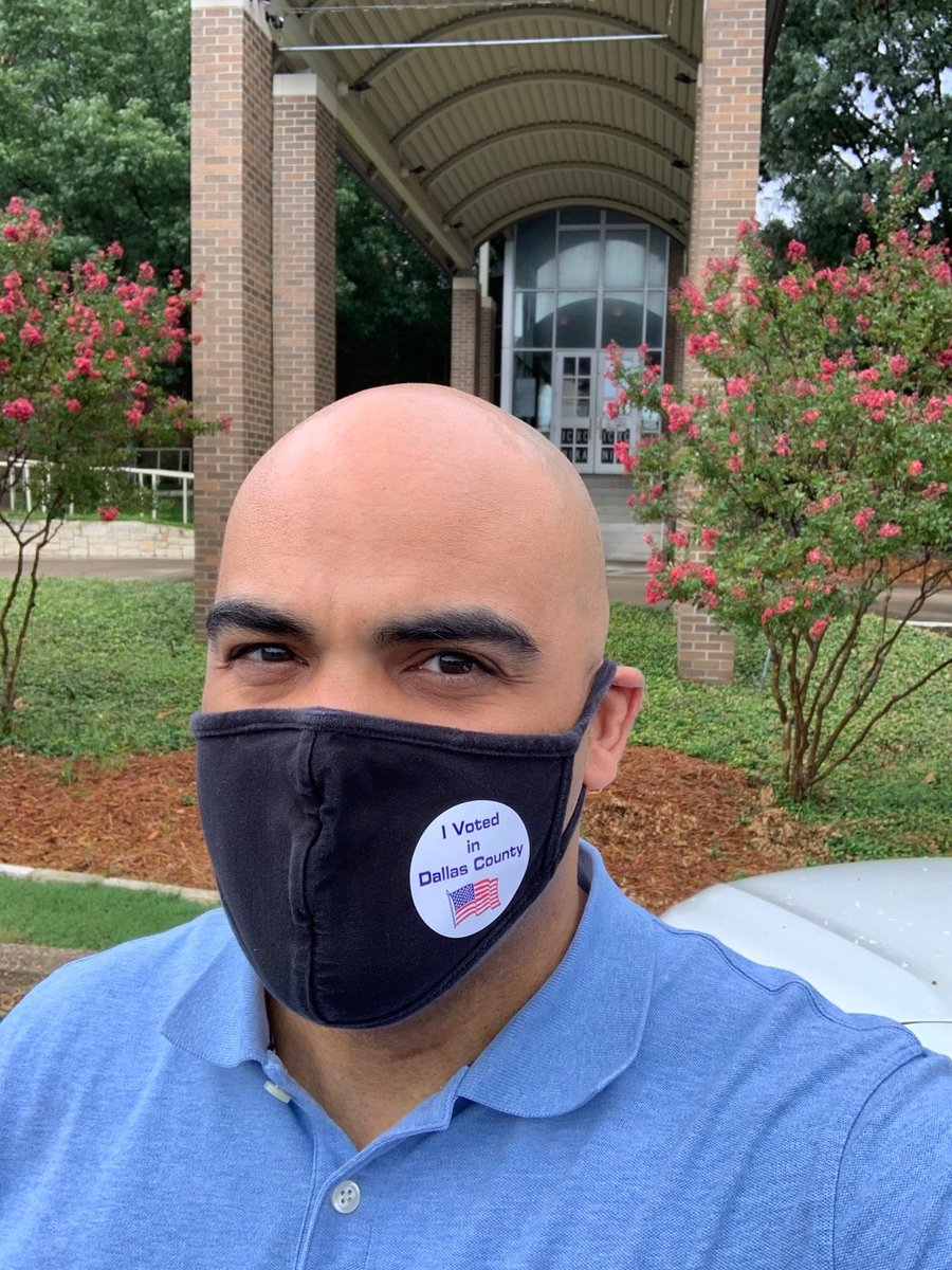 Hey North Texans, early voting is open now until July 10, so don't forget to get out (with your mask) and make your voice heard in this year's runoff election.   You can find your polling place at https://t.co/BOiAt1STXp. https://t.co/aSnP9s7u9o