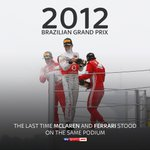 8️⃣ Years since @JensonButton took victory at Interlagos...  Standing alongside @alo_oficial and @MassaFelipe19 Felipe Massa 🍾🇧🇷  #SkyF1   #F1