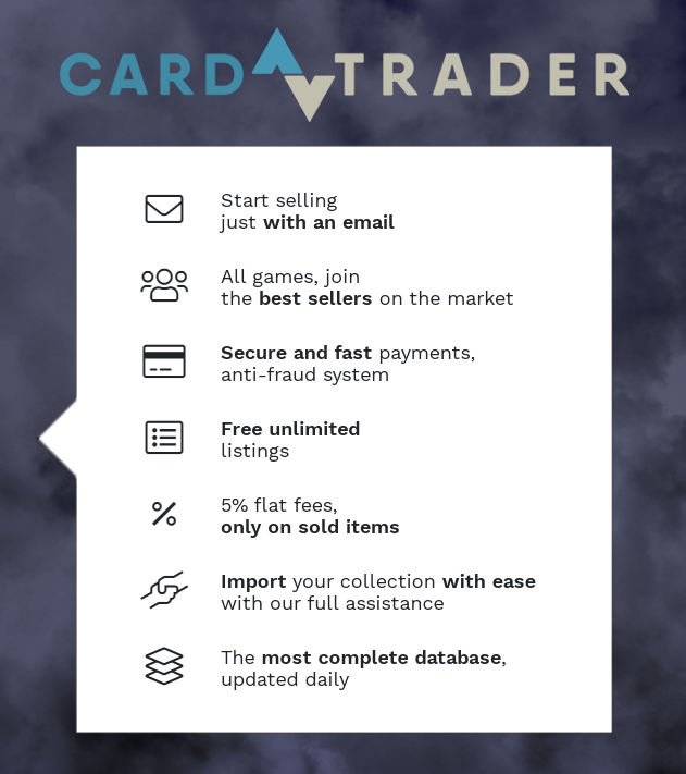 CardTrader is your reference site for buying and selling card games. Buy and sell cards to players and sellers from all over the world! Join now with just a click and became a CardTrader: https://cardtrader.com/en   #mtg #cardtrader #yugioh #pokemon #FinalFantasy #ForceofWill pic.twitter.com/lvSgjKRcyd