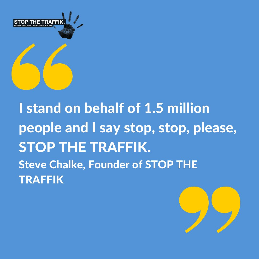 In 2008, @SteveChalke (STT founder) presented a petition to the UN with the signatures of 1.5 million people. The message was clear: human trafficking cannot and will not be ignored. Read more about our journey as global change-makers here: buff.ly/3f2WVKQ