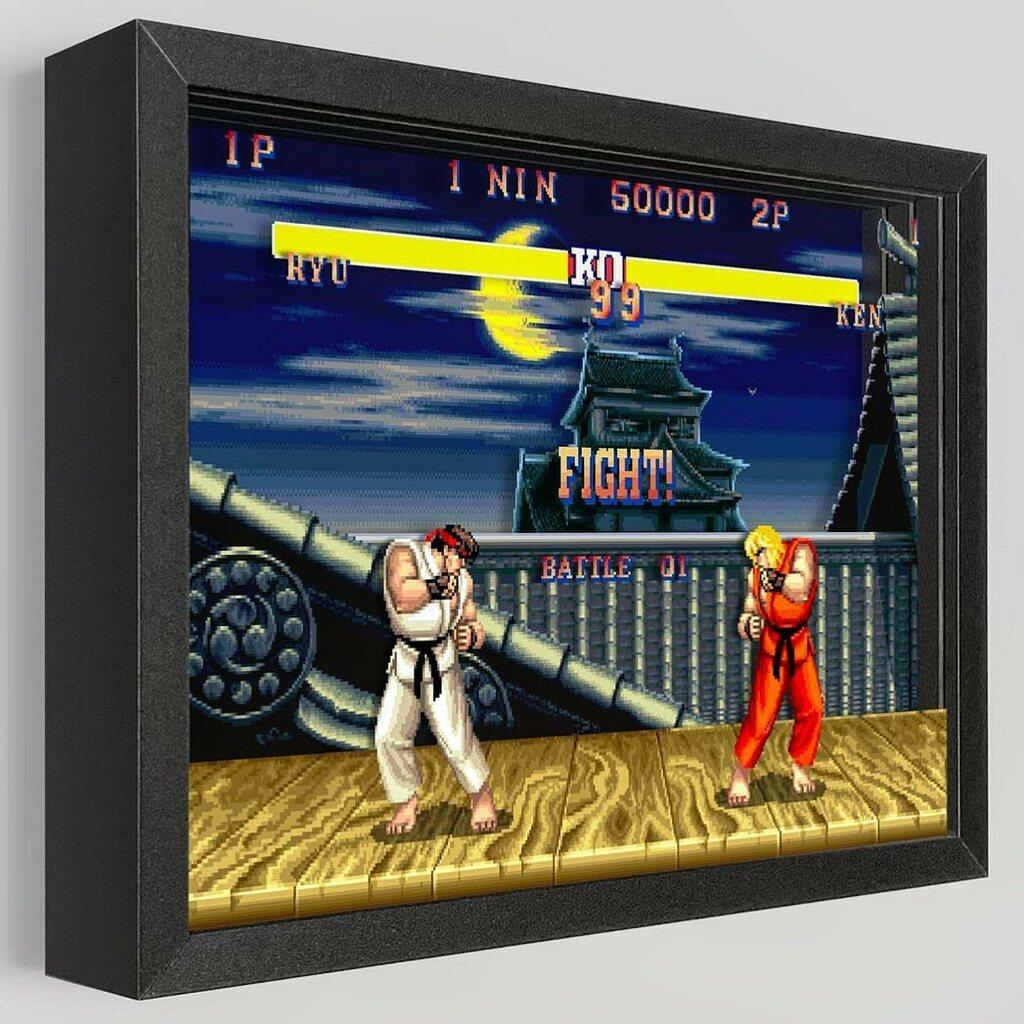 Ryu v Ken - Fight! https://t.co/W8WM1kmyR0 #streetfighter #ken #ryu @capcomusa #fight #fighter #arcade #japan #game #art #artwork #shadowbox #gamer #gamerguy #gamergirls #jump #kick #punch #nes #nintendo #gameboy #ps3 #snes #xbox #3d https://t.co/bipDA3Jcqc