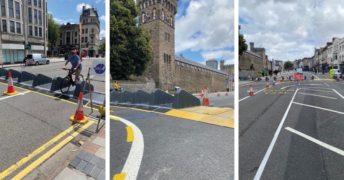 Some fantastic images from Cardiff City Centre, where our Surface Guard barrier has been used to pedestrianise a section of the city.  @Crowdguard1 did an amazing job installing the Surface Guard, making the street safe for pedestrians and cyclists. https://t.co/KAceQBZbyZ