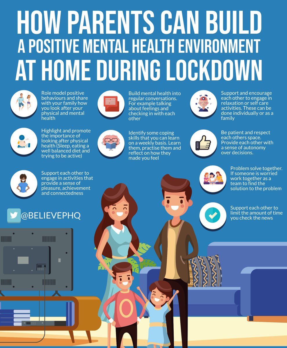 How parents can build a positive mental health environment at home during lockdown