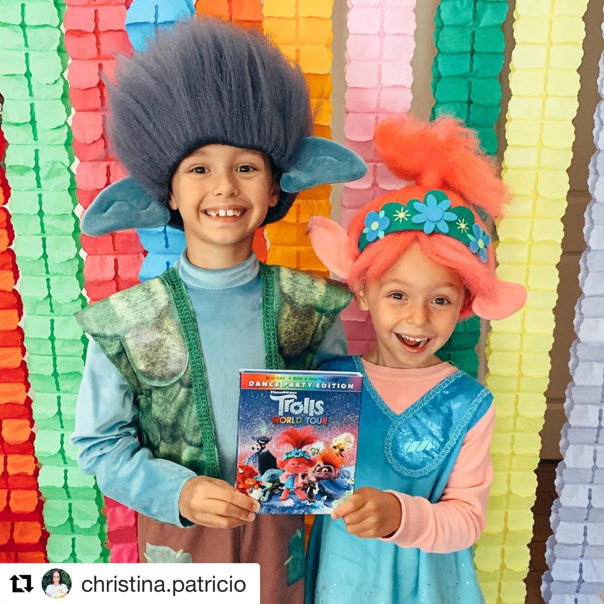 Repost @CMPatricio   #Trolls2 comes out on DVD and Blu Ray tomorrow July 7th!   #disguisecostumes #costume #halloween #trolls #poppy #branch #barb #halloweencostume <br>http://pic.twitter.com/BS1u9YBBVy