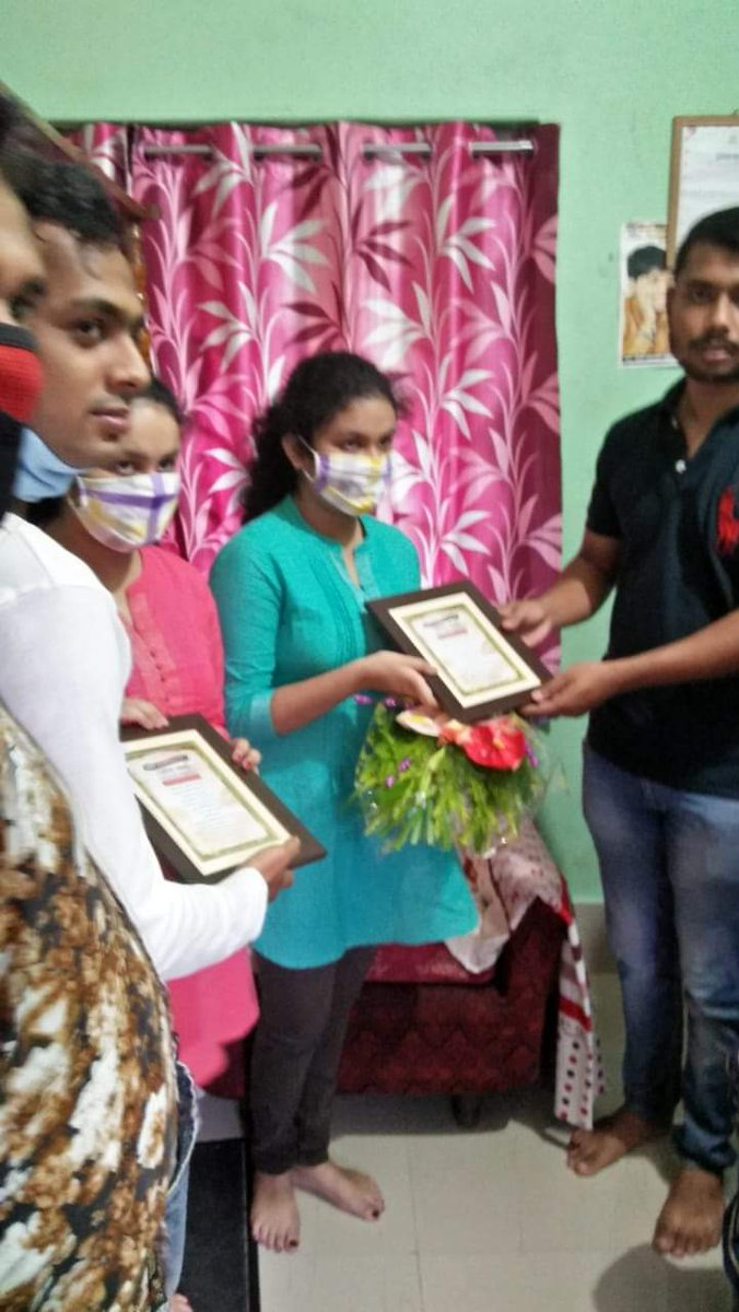 In the secondary examination conducted by TBSE  twin sisters Megha Sharma & Medha Sharma ranked 2nd & 3rd position and were congratulated with greeting letters and mementos on the initiative of SFI-DYFI Dukli Sub-Divisional Committee.  @SFI_CEC @MayukhDuke @VP_Sanu @DharDipsitapic.twitter.com/vrmufMZuLX