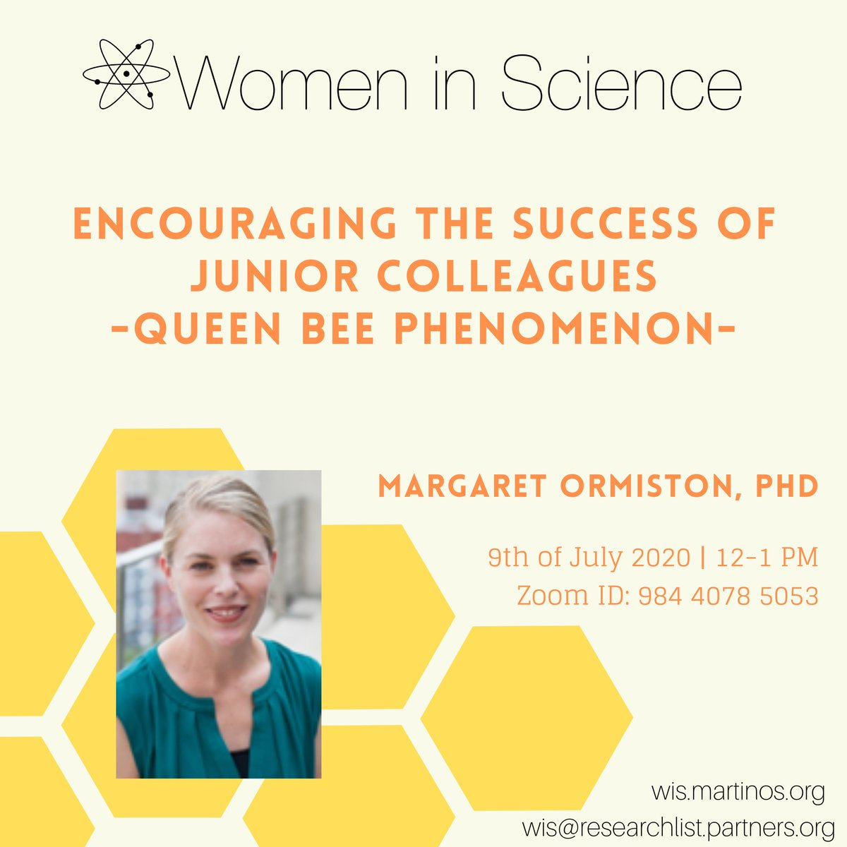 Please RT! @WiS_MGHMartinos invites you to join us & the wonderful Dr. Ormiston from @gwtweets on 7/9 at 12pm EST to learn about #leadership & how to support each other to achieve success.  @MGHmapp @MGHMartinos @HecDJC @GWISci @storiesofwin @MGH_RI @NeuroBoricuas @HarvardHBS https://t.co/vk2cisV7kW