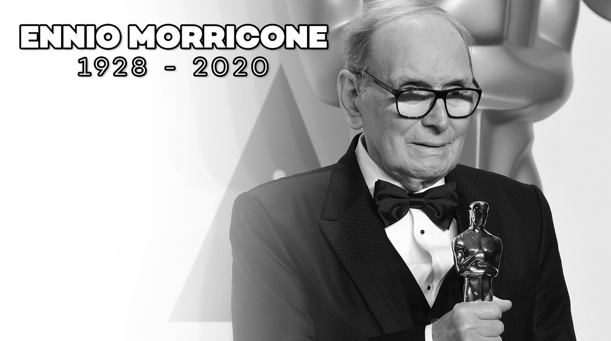 Legendary composer and Oscar winner Ennio Morricone has passed away at the age of 91.  Rest in peace... https://t.co/bYXWe9XvAo