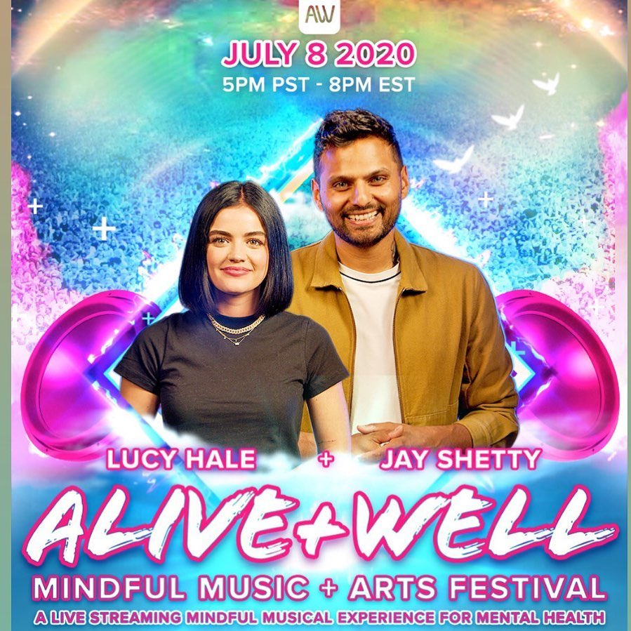 So grateful that I was able to join the #bealiveandwell foundation and @JayShettyIW to host an evening of music and mindfulness all in an effort to raise awareness and money for mental health. Join us Wednesday, July 8th at 5pm PST / 8pm EST on https://t.co/Qu3M7aOgcx https://t.co/q6C7ltcoNc