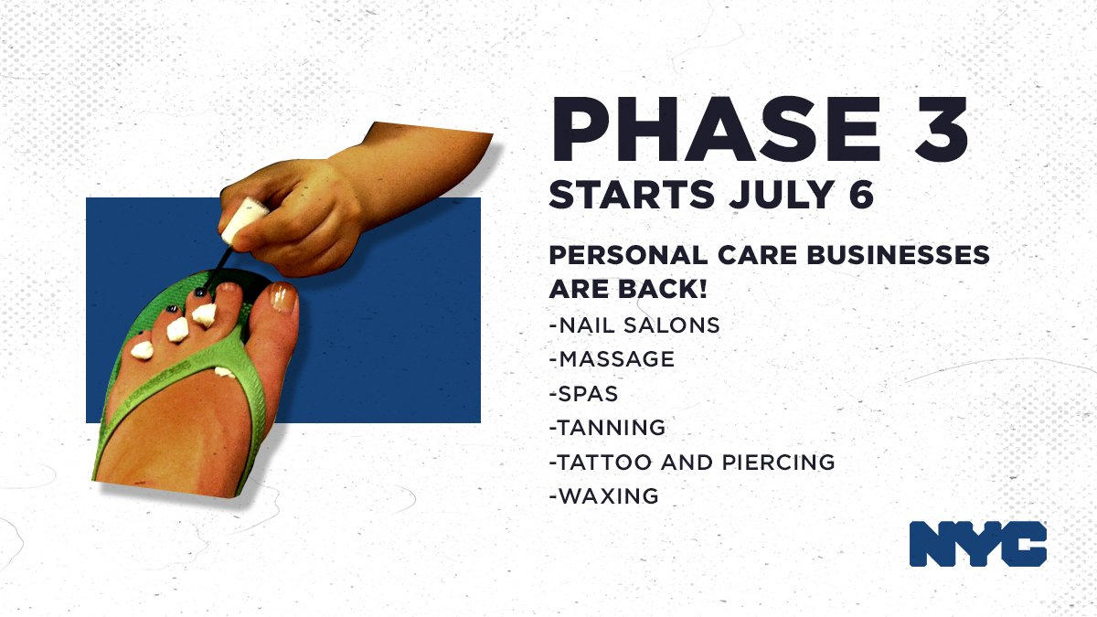 Phase 3 begins TODAY! That means personal care businesses are open and ready to go. 💅