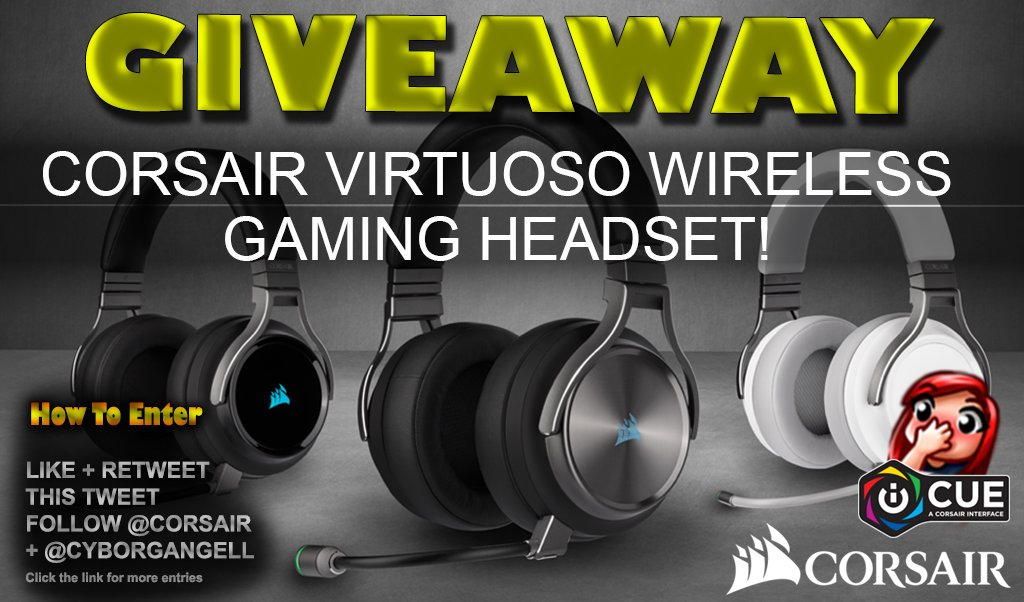 ✨ JULY GIVEAWAY ✨ WIN the @CORSAIR VIRTUOSO Wireless Headset!! Headphone  🎉 LIKE, RT & FOLLOW TO ENTER 🎉 Click here for more entries 👇https://t.co/VhXGfppArq #Ad https://t.co/TnASpE1pk8