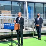 Image for the Tweet beginning: Today @MayorOfLA joined me to