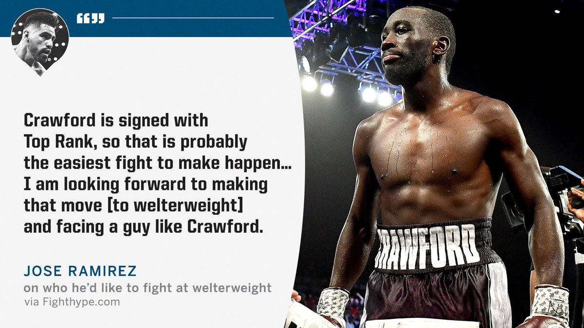 Jose Ramirez sees a fight with Bud Crawford in his future 🔮 https://t.co/qeOte2bTnG