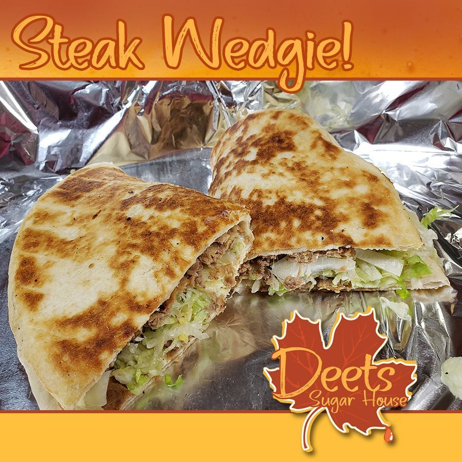 Give our irresistible Steak Wedgie a try! Monday - Saturday: 4-9pm and Sundays: 1 - 9pm #VenangoCounty #DeetsSugarHouse #GoodFood #PleaseShare #YUM #Dinner #SupportLocalpic.twitter.com/22eImqIzQx