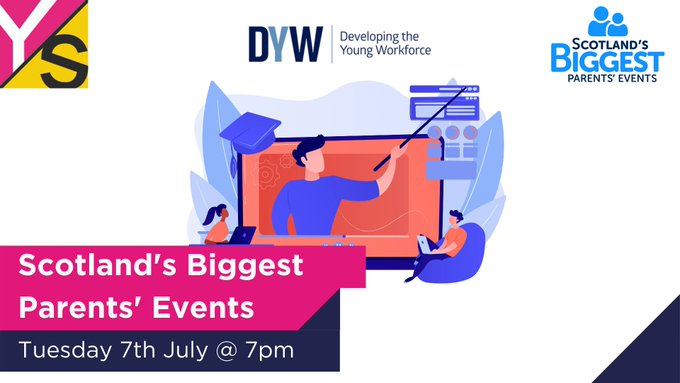 test Twitter Media - Tune in tomorrow at 7pm as @DYWScot launch the first in four virtual Scotland's Biggest Parents Events!  The first event will focus on pathways to industry and you'll get to hear from us, @sqanews & industry experts.   Set a reminder! 🔔 https://t.co/eF4socfRWd https://t.co/zDmp1X33ai