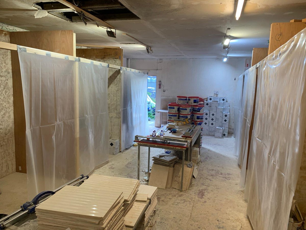 First day of our #TransitionMonth fully-funded Tiling Course for members. Bit of #sociallydistanced #LockdownLearning for @tommytremarco3 @RossMeechan4 @Stevie_Saunders Blair Alston & @LewisMilne26. We'll track their progress as the week goes on @ChrisPFAS #learnanewskill #trade https://t.co/QGttBRSrZG