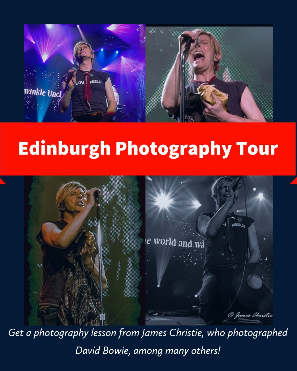 The Scottish Photography Experience  #Outlander #Edinburgh #Photography #tours #Scotland #Glasgow  Get a photography lesson from the man who photographed David Bowie. Learn manual mode, composition and the history of the Old Town.   BOOK HERE: https://t.co/bOZY2rthpi https://t.co/jDx86UVoiM