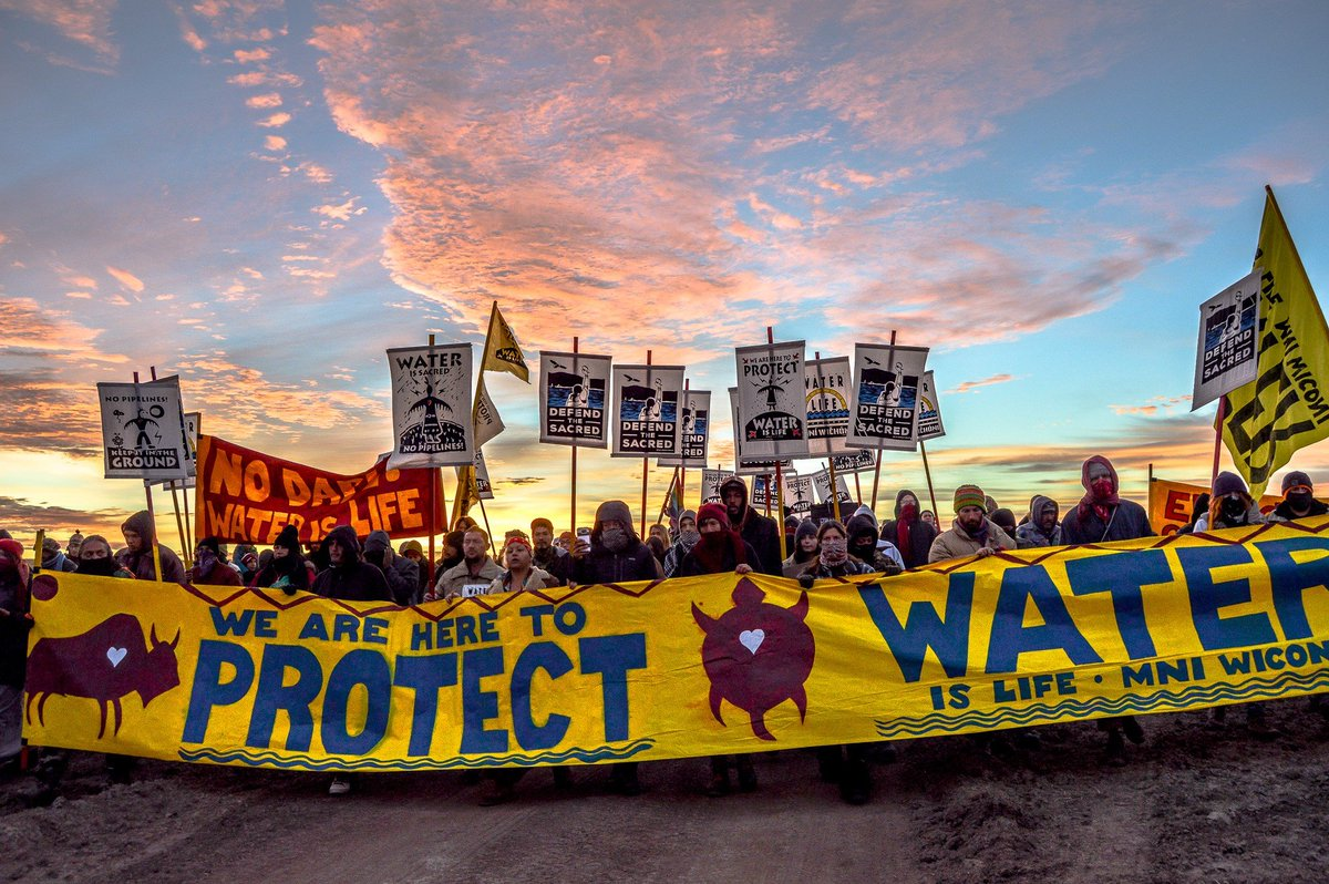 Federal Judge orders the shut down of the Dakota Access Pipe Line (DAPL) pending 3rd party environmental review. A major victory. You Can't Drink Oil. Water is life. https://t.co/z2zR3YYI45