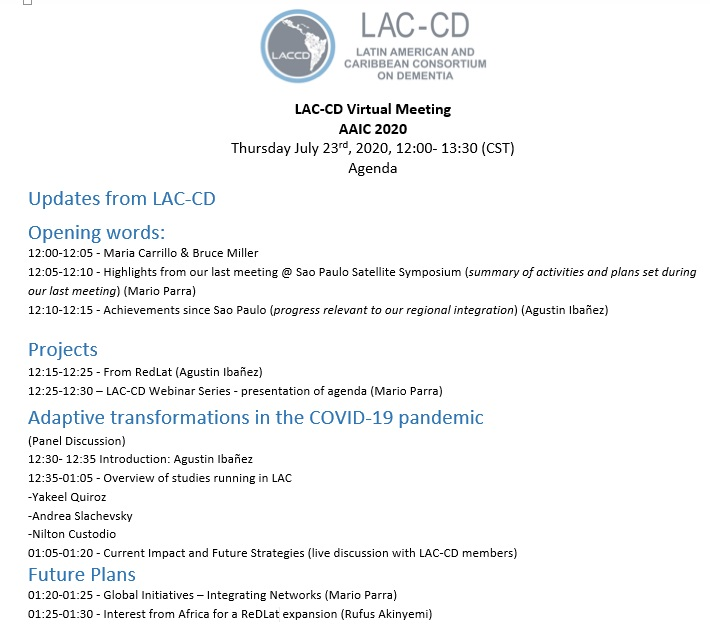 + and will focus on updates from LAC-CD, regional activities to address the challenges posed by the COVID-19 pandemic, and plans toward global strategies.   BY July 10, 2020 – Please RSVP using the registration link:  https://t.co/F1vWIGubSG  @LACCD9 @alzassociation @GBHI_Fellows https://t.co/Ekf5itlpk6