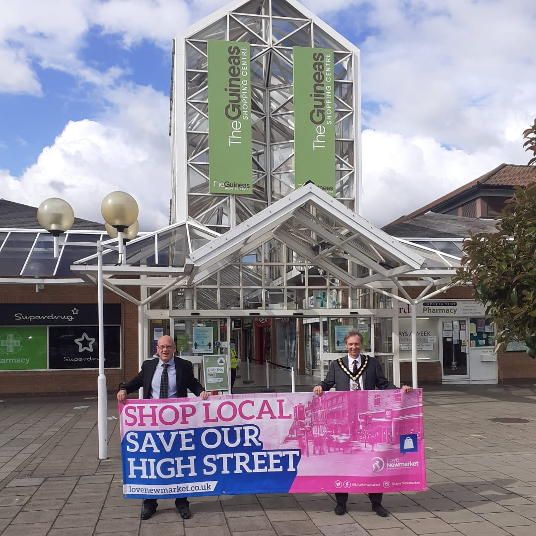 """The campaign continued through Newmarket's Business Improvement District today. Some great feedback and suggestions made by our members, and great to see the town's """"buzz"""" returning.  #SaveTheHighStreet #LoveNewmarket #NewmarketBID #Newmarket #Suffolk<br>http://pic.twitter.com/HayMnszkWj"""