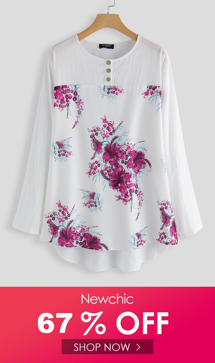67% OFF / US$ 18.99 1 Day left  Flowers Print Casual Blouse  Size: L - 5XL    #sale #summersale #summerwear #summerfashion #womensfashion #buyonline #onlineshopping #Plussizeshirt #Blouse #giftideas #Giftforher #AffiliateLink   https://pin.it/5GETcFj via @pinterestpic.twitter.com/TQw5qezdik
