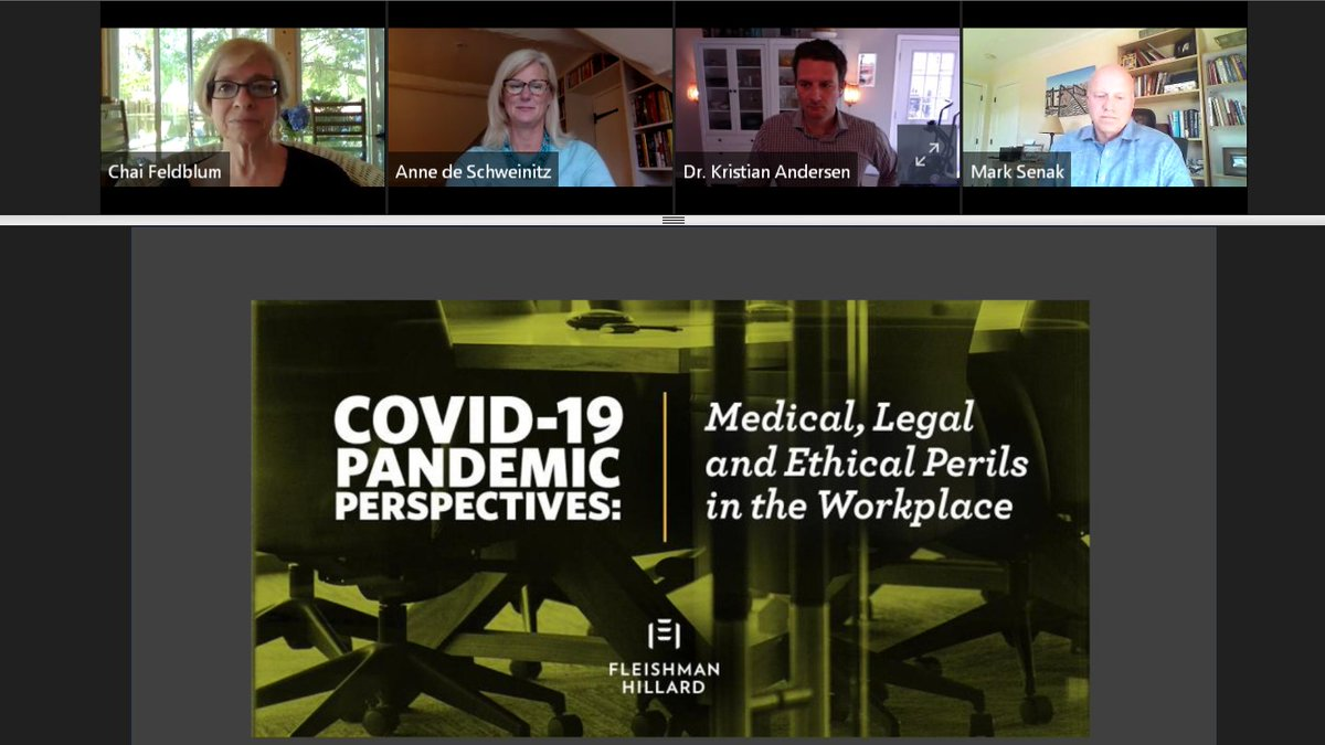 We hosted a webinar to discuss the medical, legal and ethical complications around returning to the office amid #COVID19.   Watch the full session featuring Dr. Kristian Andersen, an infectious disease expert, and Chai Feldblum, legal counsel, here: https://t.co/apmIE47WQg https://t.co/Ux11qONVA3