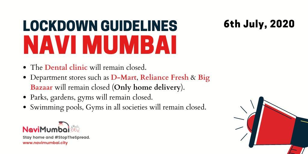 #NaviMumbai @NMMCCommr @NMMConline @Navimumpolice @NaviMumbaiNet @DarshanNPopat   Navi Mumbai: Revised #Lockdown Guidelines by #NMMC Commissioner Annasaheb Misal pic.twitter.com/EydJrYsnbr