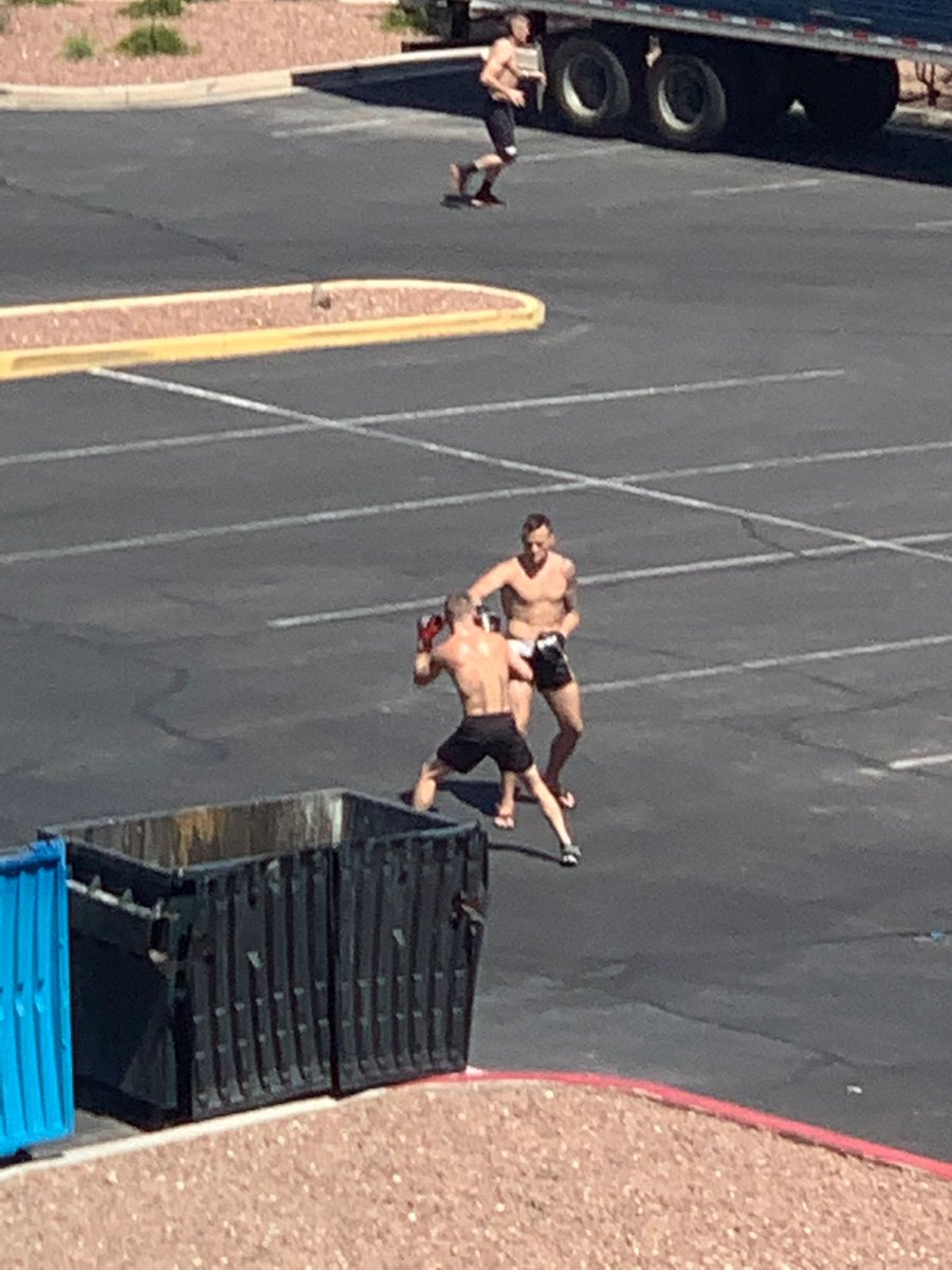 Shit u see out the window when you work at the UFC. https://t.co/CC42Jf0rL4