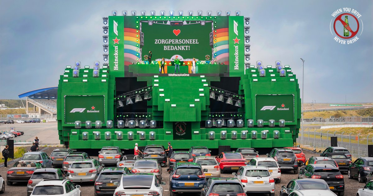 Shout out to all essential workers driving us forward. We hope you enjoyed the Heineken 0.0 x @F1 #Zandvoort Drive-In to watch the #AustrianGP season opener. #SocialiseResponsibly https://t.co/l3zxdNEl2f