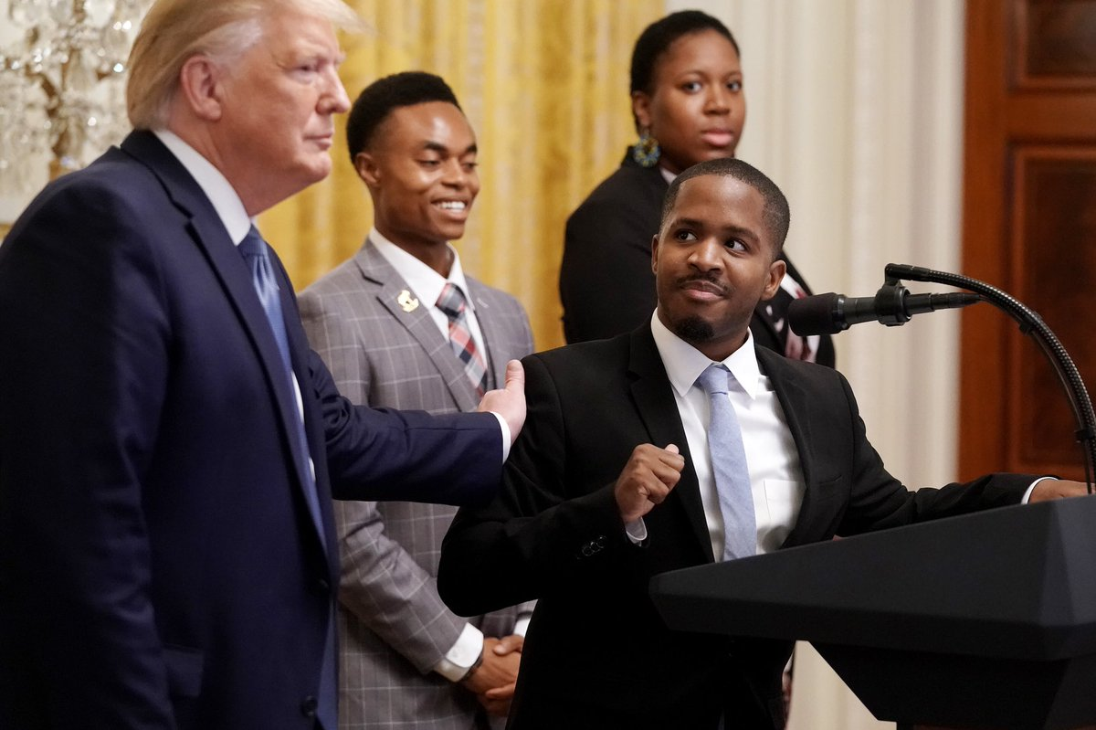 """@getnickwright """"If I were a racist, like the fake news says, then how would I have a black friend, Kanye West?!"""" -Donald J. Trump  This is OUR President folks!!! Don't let the liberal media fool you! Racism is over! And you can thank TRUMP!!! #MAGA #KAG https://t.co/f3fWO3PN47"""