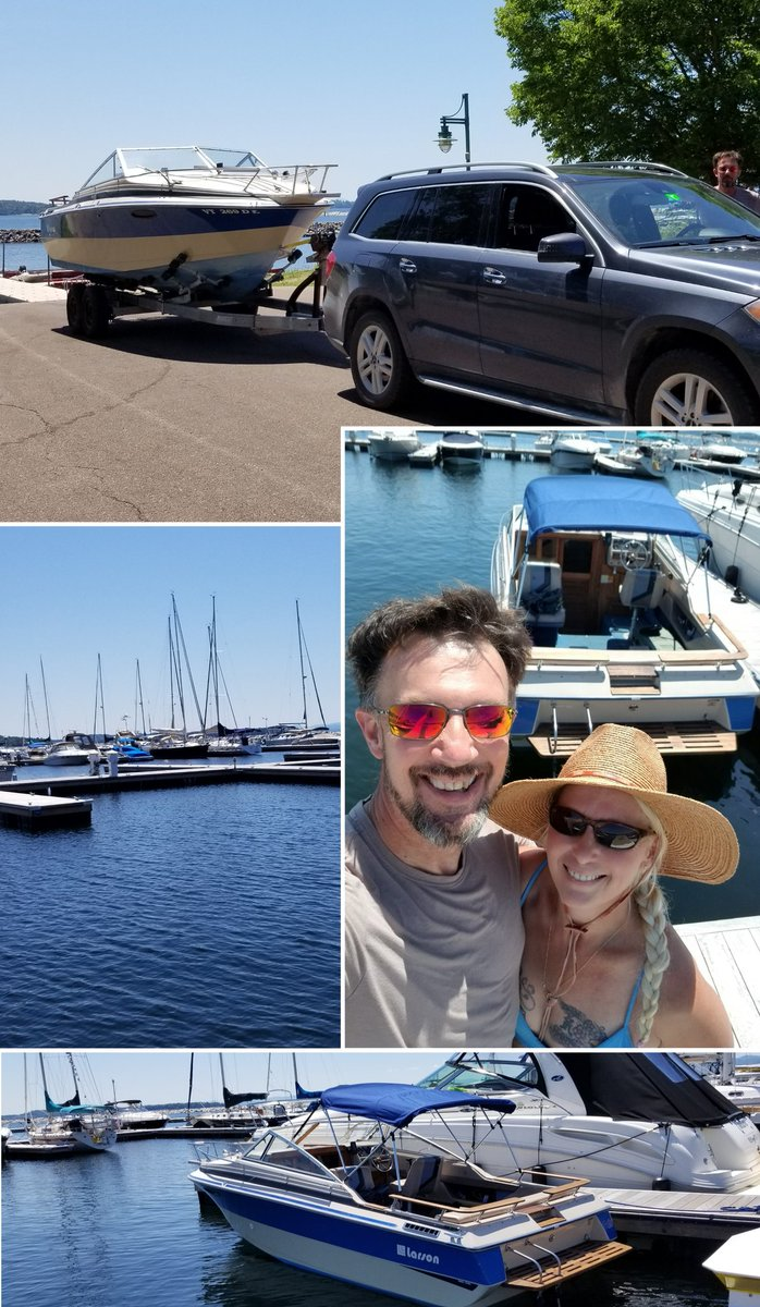 We did it! The boat is safely launched and in her marina slip till fall🤗😁👍😎 so excited for our summer home away from home ❤❤❤🌞☁️🌈 I hope everyone is having a great day  #NaturePhotography #boating #summertime #summerfun #beautiful #vermont #LakeChamplain #blueskies https://t.co/jdHskOXrwV