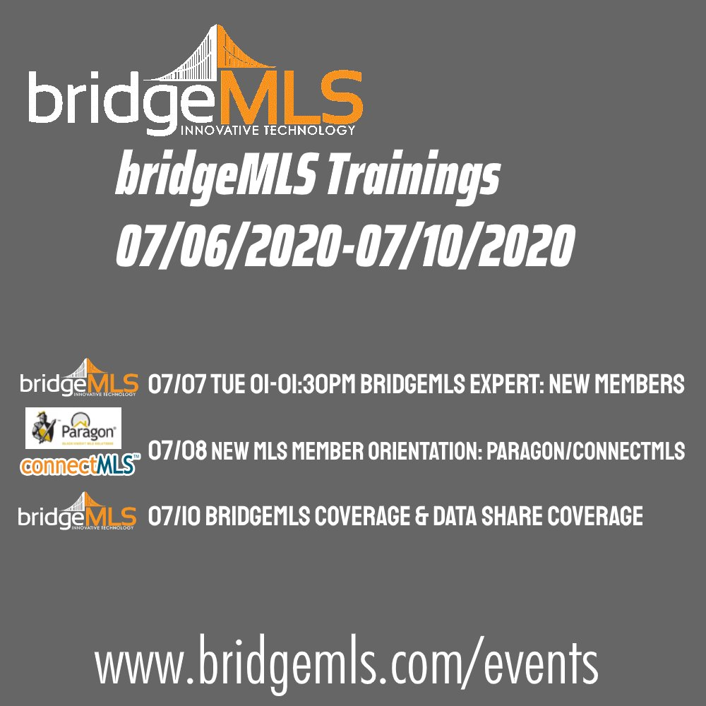 Learn at the comfort and safety of your home with these live webinars! Register at http://www.bridgemls.com/events or http://Linktr.ee/bridgeMLS #Realestate #Realtor #Broker #RealestateEvents #Bayarea #BayareaRealestate #BayareaEvents #Eastbay #EastbayEvents #Berkeley #BerkeleyHomespic.twitter.com/AJjzZ9hcEm