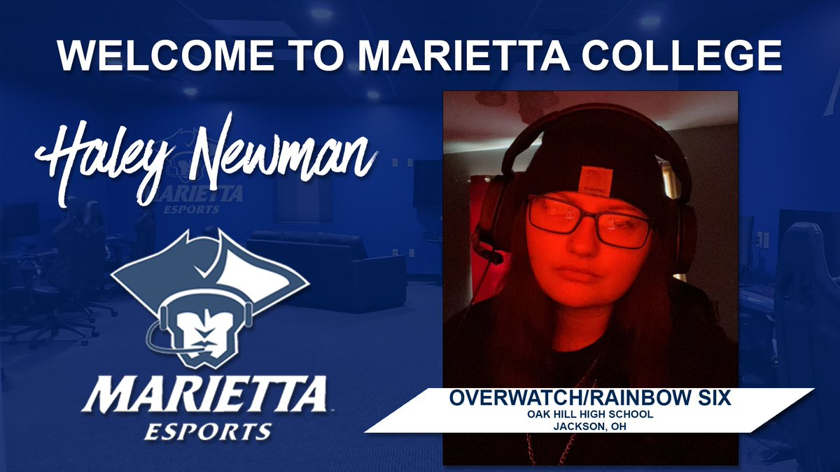 Our next esports recruit is Haley Newman, who will be playing on both our Overwatch and Rainbow Six teams. Please join us in welcoming Haley. #PioNation #BringForthAPionner https://t.co/lg4I1puFCu
