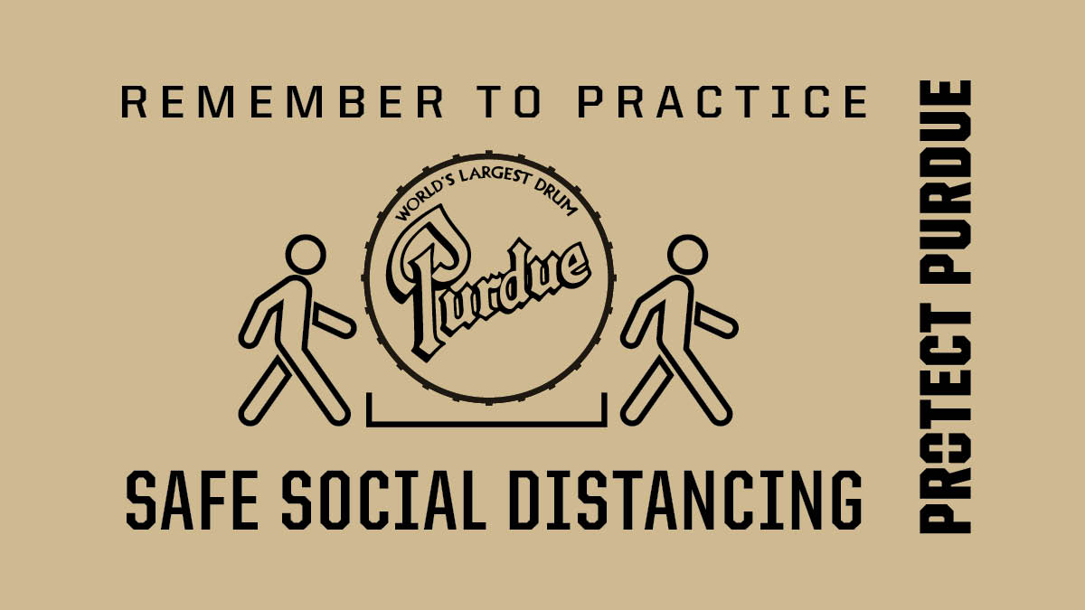 #ProtectPurdue Remember to practice safe social distancing. #BoilerUp https://t.co/KkYkmAheNV  ⬅️🥁➡️ https://t.co/Y19f1Sc8FN