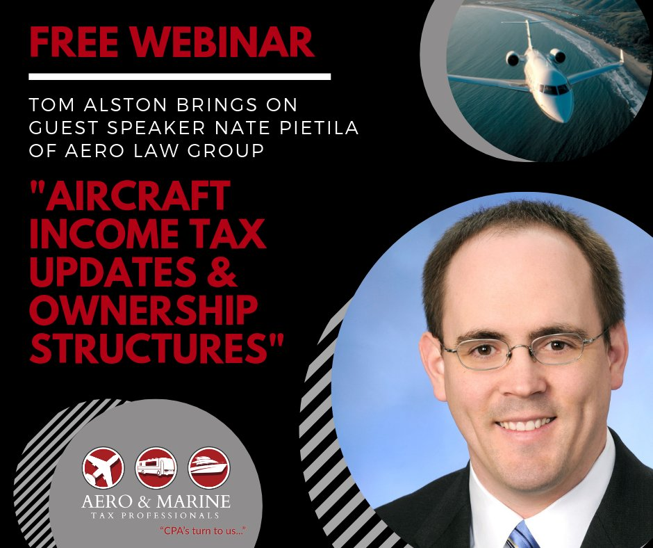 Catch up on any Aircraft IRS Updates with Nate Pietila of Aero Law Group and Tom Alston of Aero & Marine Tax Professionals.   https://t.co/I5yqaXF24r   #aviation #airplane #airplane #plane #planes #jet #jets #aircraft #aircraft #pilot #pilots #helicopter #helicopters https://t.co/u6ZfkhFgxc