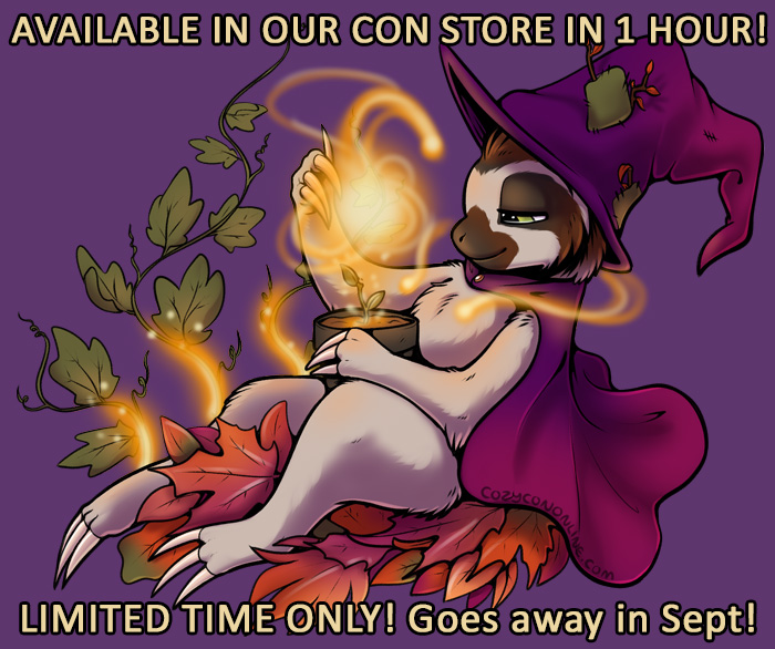 In 1 hour, we're uploading the new event art to our Con Store at https://t.co/ngOx9UDJ5m - it will be ON SALE for 3 days! Available for a limited time only! Shirts, mugs, masks, prints & more!  #cozycon #Cozycononline #onlineevent #convention #sloth #cute https://t.co/xRveQSabQy