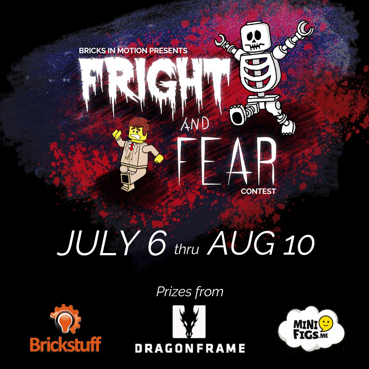 """Bricks in Motion's Summer #Brickfilm #Contest has been announced! You have until Aug 6 to create a #LEGO stop-motion with the theme """"Fright and Fear.""""  Details on our website: https://t.co/hqxv0We2hJ https://t.co/Mv39SCu71A"""