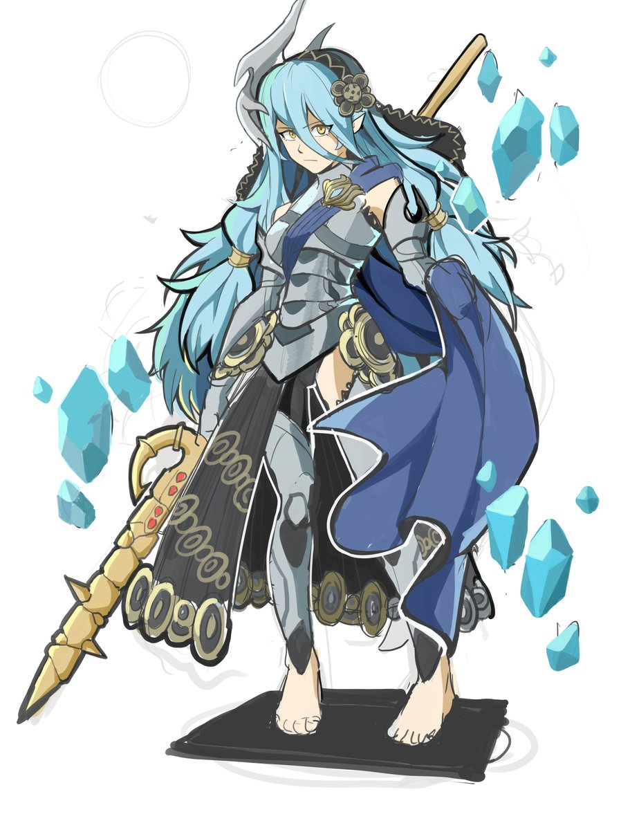 Azura if she were Fates' protagonist  AKA Azura if she stole then modified Corrin's clothes <br>http://pic.twitter.com/8kejTNnGV9