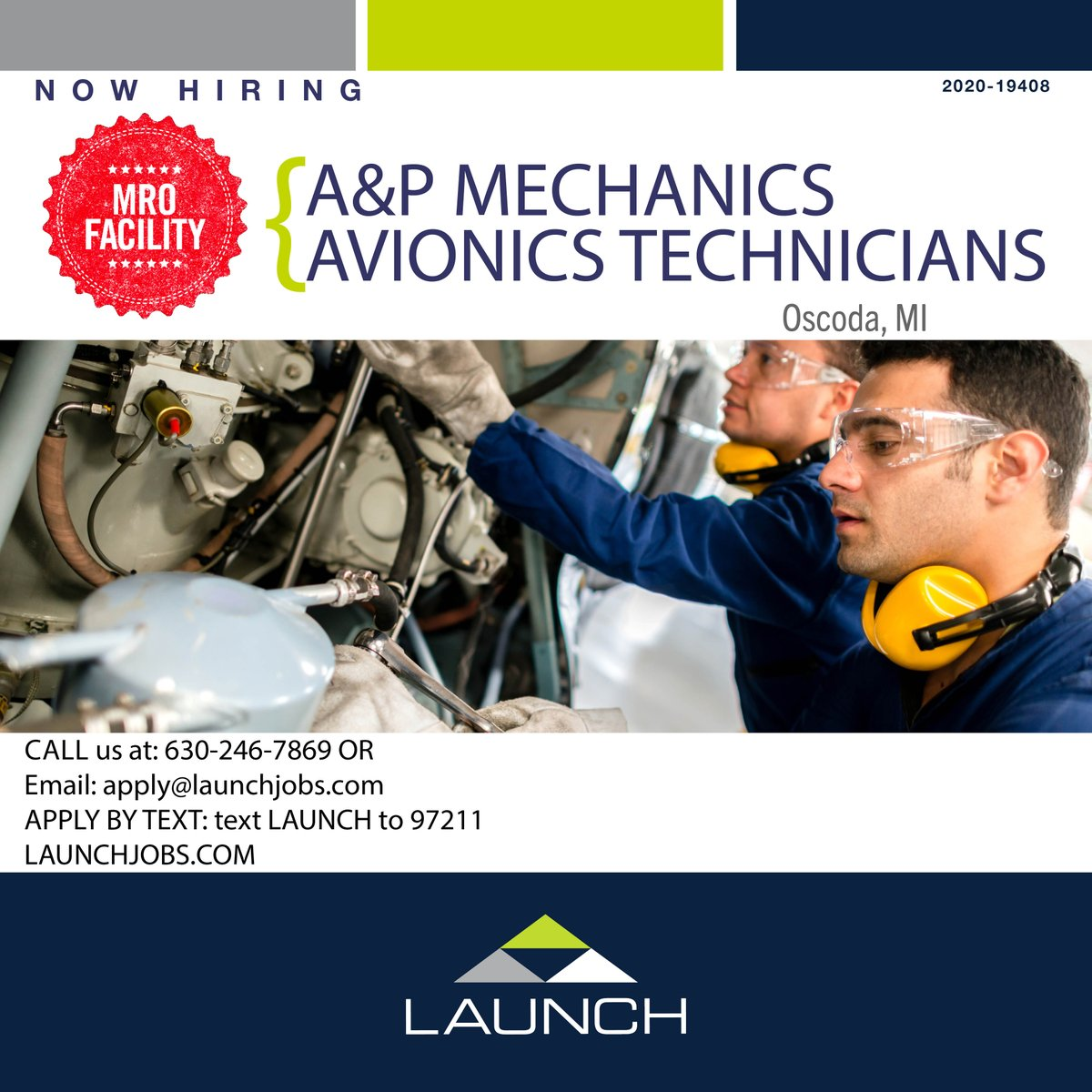 APPLY FROM OUR WEBSITE: https://t.co/DdXQrePMmF  #GoWithLAUNCH #weleadwepartnerwecare #aviation #aerospace #maintenance #overhaul #interior #avionics #install #troubleshoot #inspector #assembly #materials #composites #repair #airframe #cargoairline #commercialaircraft https://t.co/S5Dc3Y7m1W