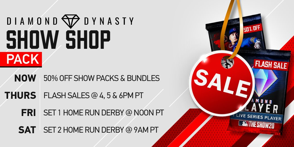 ⚠️LAST CHANCE⚠️ The Show Pack & Pack Bundles 50% OFF! +NEW Headliners Bundle = 2 (random) Headliners Packs for the price of 1. SALE ENDS 7/7. #TheShow20 #WelcomeToTheShow #TheShow #MLBTheShow20 #MLBTheShow
