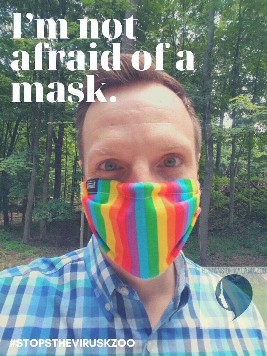 Wearing a mask #stopstheviruskzoo. #MaskUpMichigan
