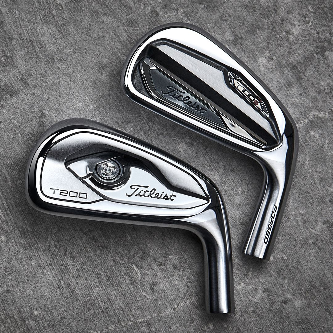 2️⃣ words: Players Distance. The T100•S and T200 irons offer explosive distance in player-preferred shapes to help you score from anywhere. #PureTitleist