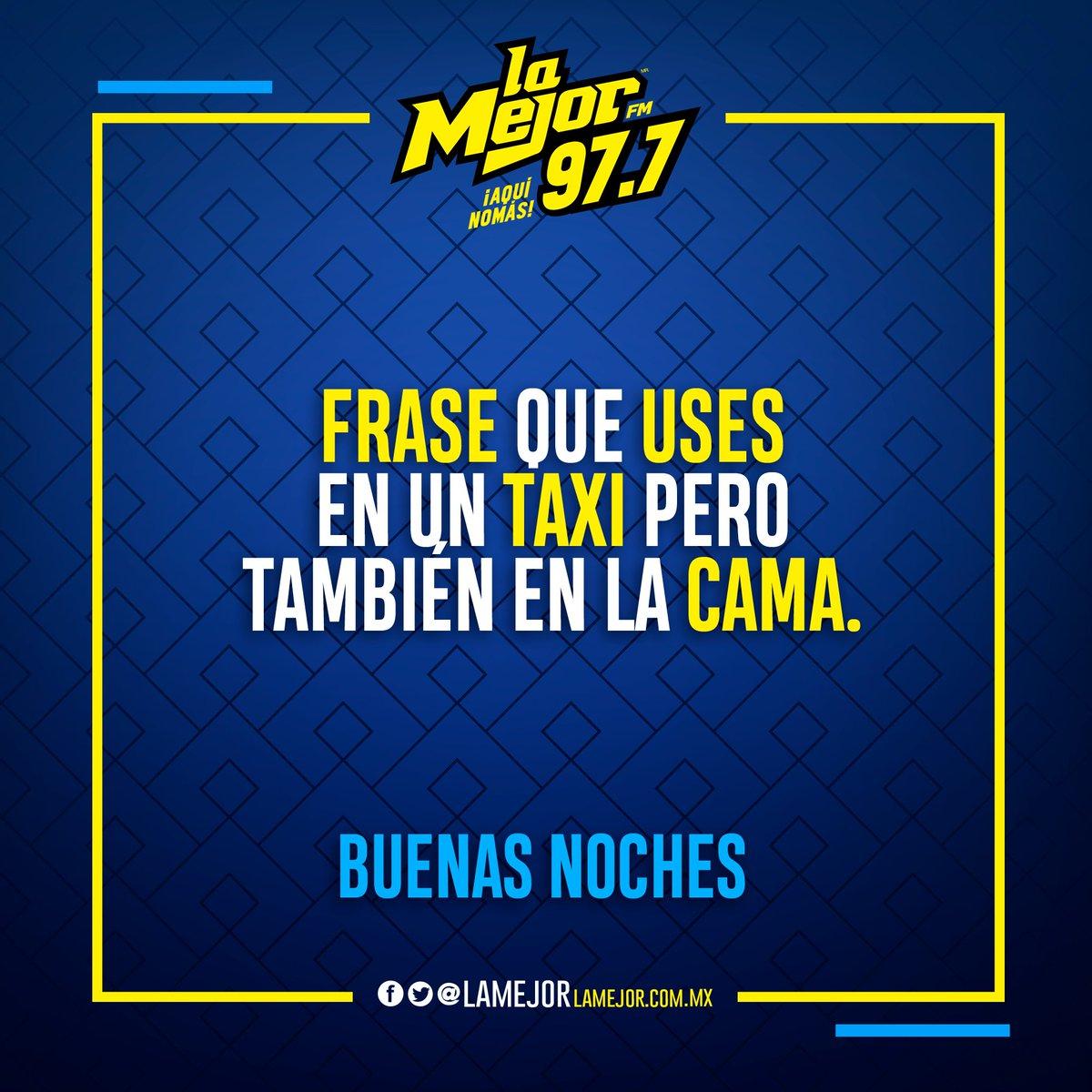 """#Frase """"Hasta el fondo por favor"""" Síganle 😅  Buenas noches #AquíNomás La Mejor FM 97.7 📻 https://t.co/lvORGyQfS3"""